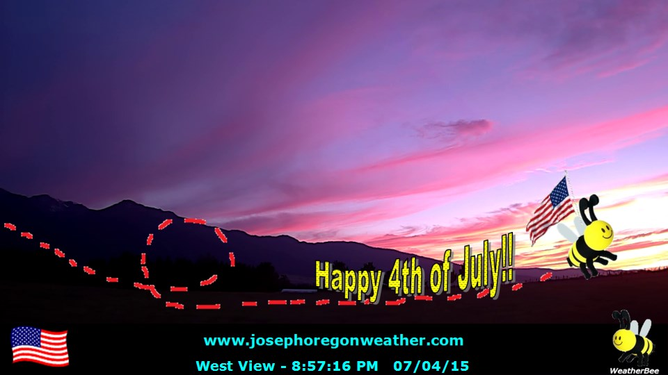Evening July 4 2015 - Click for the full view.