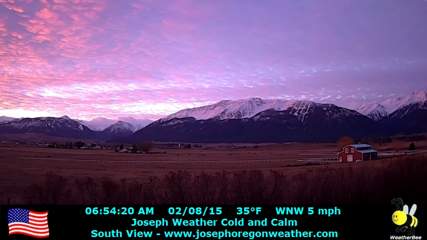Sunrise February 8 2015 - Click for the full view.